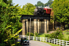 Over and Under, the Three Rivers Rambler and a Model A (Robert Holler Photography) Tags: favorite interesting knoxville engine trains steam locomotive steamengine 3riversrambler robertholler