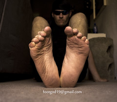The Foot God's Giant Feet (ThyFootGod) Tags: gay male feet fetish foot big toes toe size huge sole bigfoot soles 19 wrinkled bigfeet malesoles