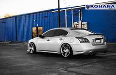 Nissan Maxima - RC8 Machine Silver (8) (Rohana Wheels) Tags: nissan wheels tuner rims import maxima nismo rohana nissanmaxima rc8 4dsc rcseries rohanawheels nissanpower