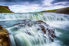 Gullfoss or Golden Falls  in Iceland. (stevebfotos) Tags: iceland south waterfalls impressions gullfoss hdr topaz goldenfalls