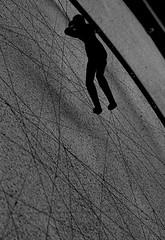 In bilico (BerrutiGiulia) Tags: bw italy art geometric italia arte piemonte e cuneo bianco piedmont nero langhe arrampicata linee bergolo