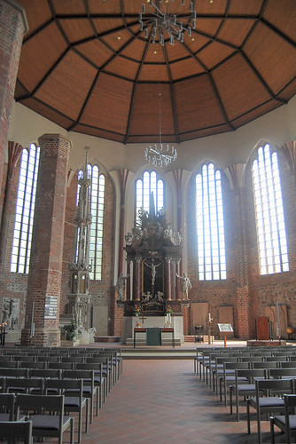 After a family visiting break the tour continued on Jun 30th. This is already next day, Jul1st in Fürstenwalde. The church was bombed in WWII (new roof - old pillars)
