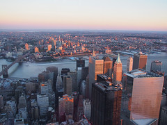 Sunset City (Steven Bornholtz) Tags: world street new york city nyc sunset summer usa ny up wall brooklyn america buildings river photography one us high downtown dj cityscape view manhattan united steve picture olympus center east steven 40 states lower midway trade imagery 2015 ep5 bornholtz djmidway