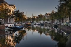 Schiedam, Lange Haven (Explored) (Jan Sluijter) Tags: city haven holland reflection water netherlands mirror canal canals explore gracht schiedam marjolijn havenkerk visitholland langehaven