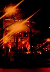 Night colors (williamw60640) Tags: plaza city trees chicago restaurant cafe colorful nightscape citylife citylights nightscene statest holidaylights streeterville goldcoast cityscenes viagratriangle rushst tavernonrush