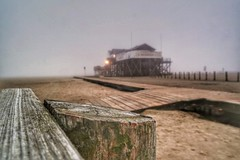"""Seekiste"" im Nebel, St. Peter Ording"