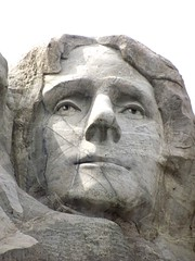 Jefferson - Mt. Rushmore (h willome) Tags: sculpture southdakota sd mountrushmore 2015 mountrushmorenationalmemorial