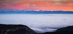 Switzerland Sunset over Swiss Alps (charles.duroux) Tags: flickr nyip panoramio