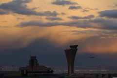 SFO control towers during a sunset thunderstorm (ChasenSFO) Tags: sf sanfrancisco sunset storm rain hail atc oakland berkeley sfo sanfranciscobayarea bayarea thunderstorm takeoff controltower gulfstream faa airtrafficcontrol ksfo sanfranciscoairport controltowers newtower sfia shadowtower