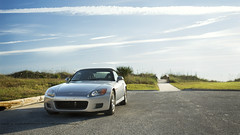 Front end Friday, on a Saturday (devin.hultgren) Tags: beach sunrise honda silverstone s2000 s2 ap1 ap2