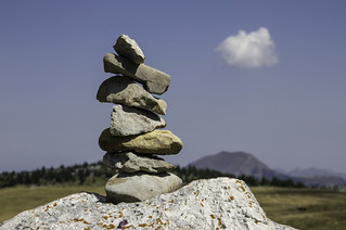 Cairn en alpage (cairn in mountain pasture)