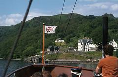 Arr. Inversnaid on board 'Maid of the Loch' Jul'77. (David Christie 14) Tags: lochlomond maidoftheloch inversnaid