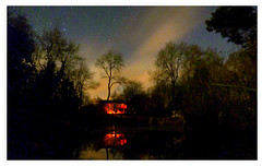 The Hut at night, Glos (bikerchisp) Tags: autumn trees cotswolds gloucestershire