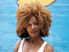 Benedicta (Peter Grifoni) Tags: street family portrait people france hair model flickr live afro group olympus stranger peter human ghana portraiture f18 newtown zuiko 45mm omd the em1 grifoni benedicta gtpete63 gtpete
