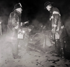 2015-12-17ThrowbackThurs1966 (12) (Official New York City Fire Department (FDNY)) Tags: york nyc rescue building water vintage fire smoke flames tools 1966 masks collapse 1960s firefighting firefighter fdny tbt new city fire handlines engine truck thursday aerial ladder suppression throwback