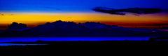 Arran Vivid Sunset (Brian Travelling) Tags: isleofarran arran ayrshire northayrshire northayrshirecoastalpath firthofclyde riverclyde goatfell blue amber orange red black sunset silhouette sunsetsandsilhouettes sundown sun sunlight bluehour bluesky scenery scenic scottish scots scotland field clouds cloud clyde clydeside clydecoast cloudscape coast west westcoast coastal coastallandscape water river landscape seascape skyscape nature naturalworld natural enhanced photography photoshop photomanipulation processed light lightanddark colours coloursofscotland colour colourful color colors coloured ayrshirenorth pentaxkr pentax pentaxdal peaceful peace panoramic 31 ratio31 pano panorama