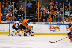 "Missouri Mavericks vs. Quad City Mallards, December 31, 2016, Silverstein Eye Centers Arena, Independence, Missouri.  Photo: John Howe / Howe Creative Photography • <a style=""font-size:0.8em;"" href=""http://www.flickr.com/photos/134016632@N02/31249486584/"" target=""_blank"">View on Flickr</a>"