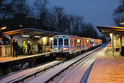 2016 cta holiday train at main street - Cta Christmas Train 2014