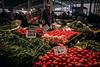 Thumbs-up (Melissa Maples) Tags: antalya turkey türkiye asia 土耳其 apple iphone iphone6 cameraphone liman market bazaar pazaryeri vendor turk man food fruit tomatoes vegetables peppers türkçe text sign