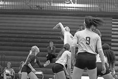 IMG_8353 (SJH Foto) Tags: girls volleyball high school york delone catholic team teen teenager black white blackandwhite bw monocolour jump spike
