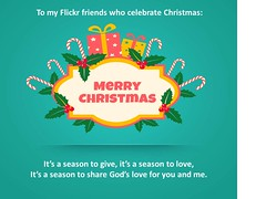 Christmas greetings to my Flickr friends (tengds) Tags: christmas christmasgreetings christmas2016 aquamarine red white candycane gifts leaves green tengds