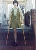 Classy monopede lady (jackcast2015) Tags: handicapped disabled disabledwoman cripledwoman onelegwoman oneleggedwoman monopede amputee legamputee crutches crippledwoman wheelchair paralysed poliogirl legbraces calipers polio