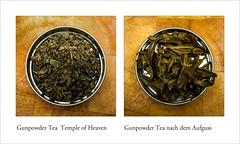 Gunpowder Tea (blasjaz) Tags: blasjaz tee tea grüntee grünertee templeofheaven lebensmittel greentea teainfusion teeaufguss collage