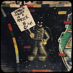 Leake Street (Ronald Hackston) Tags: batman donaldtrump prick donaldtrumpisaprick rude lego capedcrusader leakestreet waterloo london england uk ronniehackston