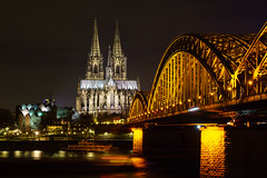Köln-Cologne (AF-PHOTOs) Tags: germany köln cologne bridge dom kölner sightseeing sehenwürdigkeit favour deutschland bei nacht best shot one day europa europe