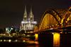 Köln-Cologne (AF-PHOTOs) Tags: germany köln cologne bridge dom kölner sightseeing sehenwürdigkeit favour deutschland bei nacht best shot one day europa europe