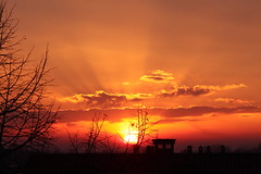 Sunset with clouds (flubatti) Tags: sun sunset sky evening landscape cityscape clouds