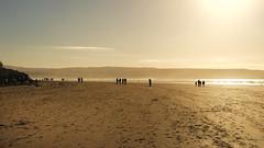 Strolling silhouettes (irishman67) Tags: lahinch lehinch seascape seaside sand ireland winter sun walking countyclare