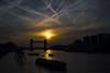 London morning 2016 (ChrisJWake) Tags: london londoncity london2016 city tower bridge street streetphotography streetlife urban sky sunrise sunset clouds chemtrails river gold golden nikon d4s nikkor 35mm 35mmf14g 35mmlens outdoor thames
