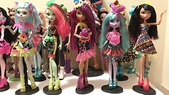 The Electrified ghouls so far. Just waiting on Ari and Draculaura! I'd be getting Frankie too if she wasn't so gimmicky (Venus_Forever) Tags: electrified 2017 new mattel doll dolls high monster