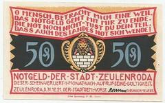 0A (NoeCR) Tags: germany alemania notgeld zeulenroda papelmoneda notafilia worldpapermoney emergencymoney dinerodeemergencia