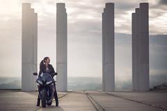 (dimitryroulland) Tags: nikon d600 85mm 18 dimitry roulland paris france city urban street bike biker girl cergy natural light