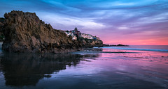 Good Morning! (meeyak) Tags: lowtide reflection cdm coronadelmar newportbeach california usa oc orangecounty rocks seascape landscape sunset colors houses realestate clouds cloudy meeyak nikon d5500 1635mm travel vacation outdoors adventure water ocean sea beach beautiful