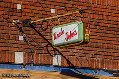 Uncle John's | Main Street | Crawfordsville, Arkansas (M.J. Scanlon) Tags: crawfordsville arkansas rural small town main street tiny scanlon canon 7d wow sunny outdoor outdoors structure building brick nostalgic delta low population dying artistic different you looking