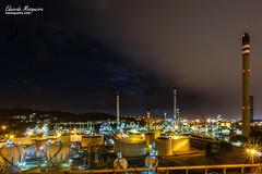 Zona de depósitos (emosqueira) Tags: coruã±a fotografãa galicia nocturna refinerãa