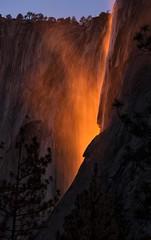 The Firefall (WJMcIntosh) Tags: horsetailfall firefall yosemite yosemitenationalpark february winter elcapitan elcapitanpicnicarea northsideview snow falls fire fall theresonantlandscape