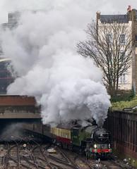 Steaming Away From Victoria (McTumshie) Tags: 1y82 20170204 60163 belmondbritishpullman london londonvictoriastation tornado locomotive railway steam england unitedkingdom