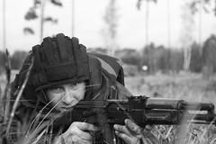 Russian soldiers on maneuvers (as-fedotov) Tags: солдат россия учения земля поле осень армия monochrome russia army military