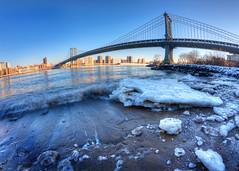 New York Icebergs II (ADFitz) Tags: newyork eastriver iceberg manhattanbridge manhattan dumbo ice fisheye