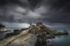 Porto Venere (Italia) (Mathulak) Tags: porto venere italia italie seascape church clouds