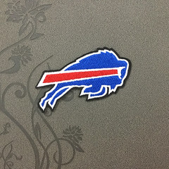 Buffalo Bills team logo Iron on patch Iron on Applique hat patch bag patch Embroidered Iron-On Patches sew on patches (edwardCepheus) Tags: sport logo football team buffalo iron bills nfl patch patches afc