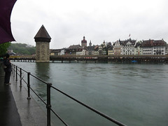 Chapel Bridge over the River Reuss (U A Satish) Tags: bridge water architecture buildings river switzerland outdoor lucerne chapelbridge riverreuss uasatish httpuasatishcom