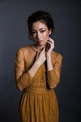 Natalie (Alien Light Beam) Tags: lighting people beauty fashion canon studio asian eos 50mm clothing model shoot f14 bees alien sigma indoor hong kong thai british natalie ef 30mm 600d