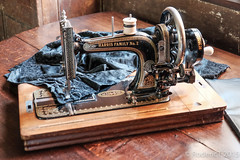 20150918-DSCF0168 Harris Family No 2 Sewing Machine Canons Ashby Northamptonshire.jpg (rodtuk) Tags: uk england technology misc northamptonshire places kit household midlands b23 xt1 phototypes roderickt roderict