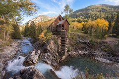 Crystal Mill (Erik Johnson Photography) Tags: autumn sky mountains color building fall mill abandoned water yellow river rockies photography gold waterfall colorado crystal rocky line aspens marble aspen leading coloradotography
