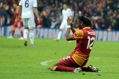 Didier Drogba (l3o_) Tags: galatasaray didier drogba goal football futbol chelsea footballer futbolcu sar krmz red yellow blue real madrid galasozlukorg